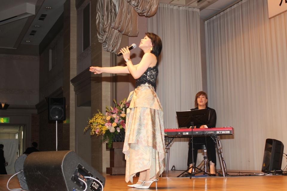 ピアノのまゆみさんとの共演ステージ